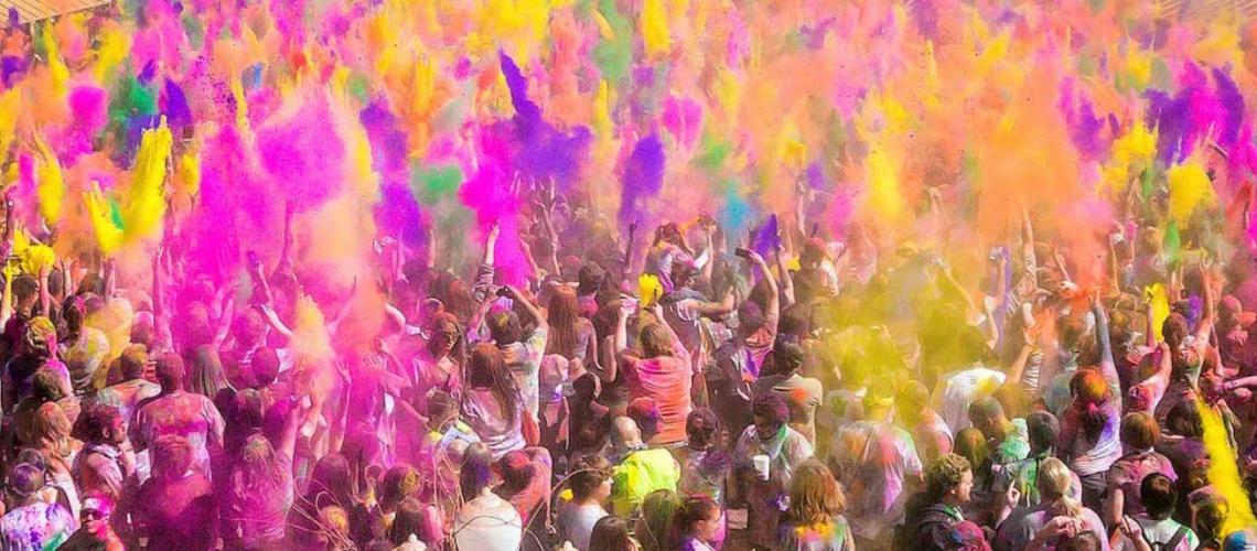 fiesta de los colores Jaén - Holi colors